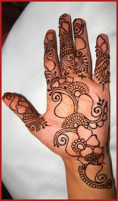Hand Feet Mehndi Designs For Young Girls