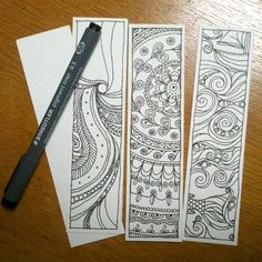 Doodle /mandala / zentangle bookmarks by hollymayb