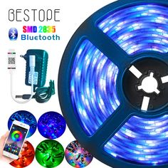 Details about  /LED Strip Light RGB 5050 SMD 2835 Flexible Ribbon fita led light strip RGB 5M