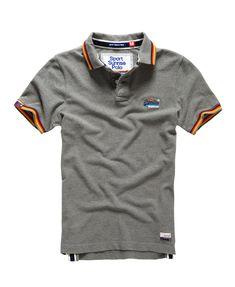 Mens - Sport Sunrise Polo Shirt in Dark Marl | Superdry