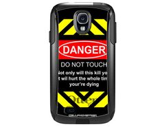 Otterbox Commuter Danger-Do Not Touch on Black Case for Samsung Galaxy S4 B-629