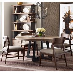 Modern Synergy Round Table and Chair Set by Living Trends