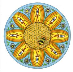 Litha - summer solstice - Pagan Mandalas - Art and Design by Cat Stone