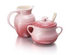 Le Creuset Stoneware Cream and Sugar Set - Yuppiechef Sugar Container, Le Creuset Stoneware, Perfect Cup, Cream And Sugar, Milk Jug, Pinterest Recipes, Sugar Bowl, Afternoon Tea, Tea Time