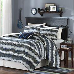 #Teen Bedrooms, Alexis Printed Comforter Set Size: Full/Queen, Color: Blue