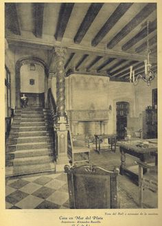 Mountain Homes, Dream Houses, Architecture, Painting, Vintage, Mar Del Plata, Mansions, Old Pictures, Palaces