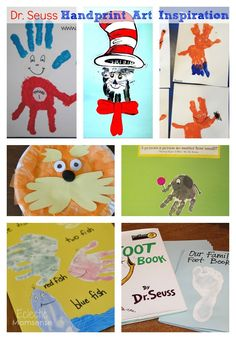 dr. Seuss handprint art inspiration