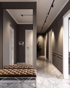 Entrance Hall Decor, House Entrance, Entryway Decor, Flur Design, Hall Design, Home Upgrades, Casa Milano, Hallway Designs, Minimalist Architecture
