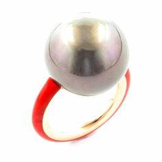 "TAFFIN (@taffinjewelry) on Instagram: ""20mm Tahitian pearl ring."""