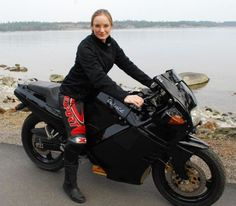 Beautiful Girl on Electric Bike.... see the Grace...