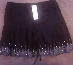 f8acd7817 Ladies Warehouse Black Embellished Mini Skirt Size 10 rp 25.00 #fashion # clothing #shoes