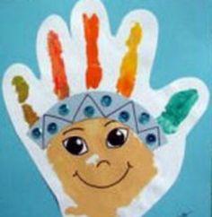 indio con pintura de dedos