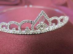 Bridal Rhinestone Crystal Prom Crown Hair Jewelry Sweet Sixteen Tiara Silver $15.23