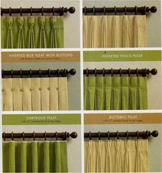 Drapery styles - very good to know! by tami