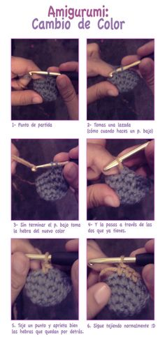 Tutorial amigurumi - cambio de color