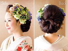 じわじわ人気の和装結婚式♡和装に似合う人気ウエディングヘアスタイルの2枚目の写真 | マシマロ