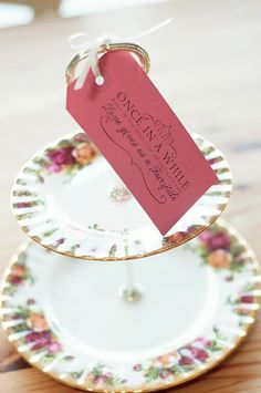 Vintage 'old country roses' two tier cake stand at Rosie Loves Vintage