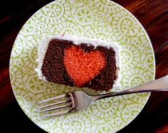 Sugar Swings! Frosted Dark Chocolate Loaf Cake with Heart Inside