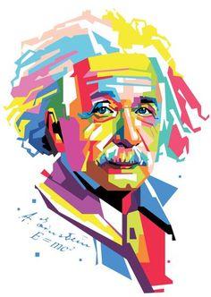 Albert Einstein in WPAP Popart Portrait Design by ArryMochtar on DeviantArt Pop Art Portraits, Portrait Art, Arte Pink Floyd, Joker Kunst, Idee Baby Shower, Desenho Pop Art, Tableau Pop Art, Pop Art Images, Frida Art