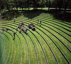 Outdoor Amphitheater / Aarhus University Campus designed by C. Møller in Aarhus, Denmark Aarhus, Parque Linear, Public Space Design, Public Spaces, Landscape Architecture Design, Architecture Diagrams, Landscape Architects, Architecture Portfolio, Sustainable Architecture