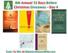 It's day 4 of the 12 Days Before Christmas Giveaway and we're giving away great prizes from Accordance Bible Software and Discovery House Publishers.