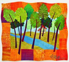 From book: Fanciful Stitches, Colorful Quilts 11 Easy Appliqué Projects to Embroider by Hand