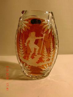 No. 5068 - Bleikristall Vase Julia früher Josephinenhütte - Bernstein Serie   eBay