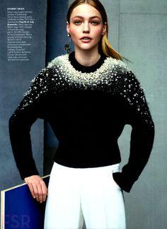 Vogue U.S. July 2014 | Sasha Pivovarova by Karim sadło  - Balenciaga