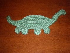 Crochet dino applique