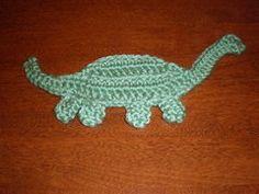 Crochet dino applique