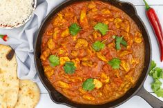 Kip madras Food For Thought, Curry, Pasta, Yummy Food, Healthy Recipes, Dishes, Ethnic Recipes, Desserts, Image