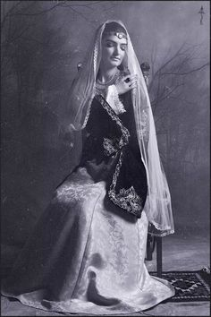 Armenian traditional dress. I love this picture.