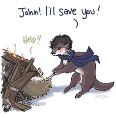 Hehehe, this is excellent. I can't entirely believe they put john in a bonfire. :D