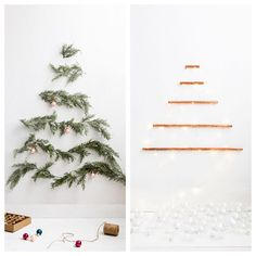 Christmas tree alternatives for tiny apartments! See our ideas via link in bio.  @michaelwiltbank #christmastree #christmasideas #smallspaces