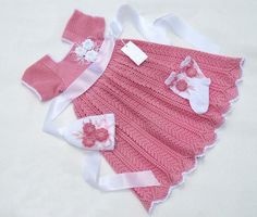 Baby Girl Harvest Pink Dress Crochet Pattern by VintageEtsian