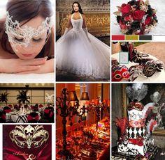 #Masquerade #Wedding #Theme #Ideas & #Inspiration - #Red #Gold #Black & #White Wedding Goals, Red Wedding, Wedding Themes, Wedding Photos, Wedding Planning, Wedding Day, Wedding Dresses, Wedding Reception, Wedding Stuff