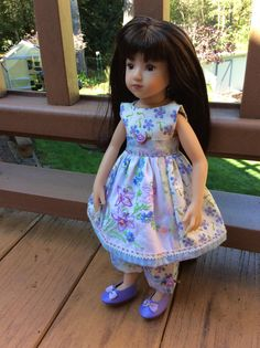"""ARTSY, shabby chic, beaded, 14"""" doll clothes, Maru, Tonner, Betsy McCall, vintage linens, ooak by judysdollboutique on Etsy"""