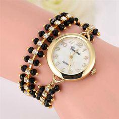 >> Click to Buy << Fashion Chic Life Waterproof Women Geneva Rhinestone Bracelet Analog Saat Quartz Wrist Watches Relojes Mujer Large Discount #Affiliate