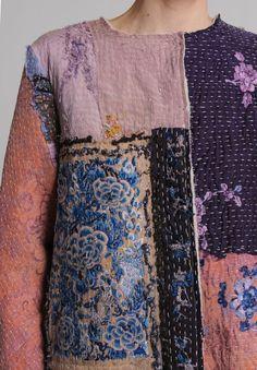 By Walid Custom Silk Waist Jacket in Pink/Purple   Santa Fe Dry Goods