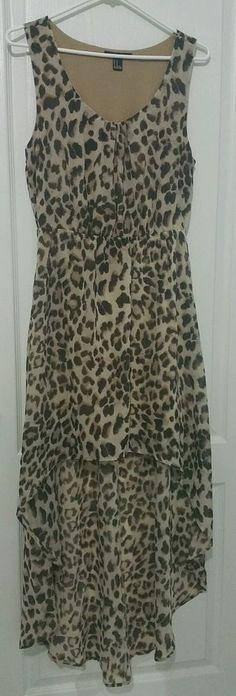 FOREVER 21 Animal Print Leopard Sleeveless Long Midi Dress, Juniors Size M #FOREVER21 #Midi #SummerBeach