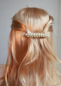 Perfect hair/ Perfect Accessory ..   Hair Accessories french BarrettClipHand by mylittlebride,