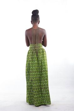 MAKSI - Maxi Skirt. To order please email info@maksiclothing.com or call +233 24 2370 212