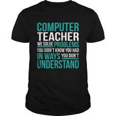 COMPUTER TEACHER T Shirts, Hoodies. Check Price ==► https://www.sunfrog.com/LifeStyle/COMPUTER-TEACHER-132725608-Black-Guys.html?41382 $22.99