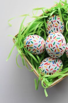 DIY Sprinkle Easter Eggs - Let's Mingle Blog                                                                                                                                                      More