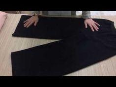 Dikiş Hocam | En Kolay Lastikli Çocuk Pantolonu – 1. Bölüm: Kalıp Yerleştirme ve Kesim - YouTube