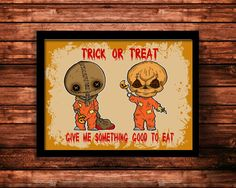 Trick R Treat Sam Art Print Halloween cult horror movies