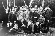 Born in Solingen, Germany, Adolf Eichmann' 3rd from left bottom row, was the son of a businessman and industrialist, Karl Adolf Eichmann. In 1914, his family moved to Linz, Austria, and during the First World War, Eichmann's father served in the Austro-Hungarian Army. At the war's conclusion, Eichmann's father returned to the family business in Linz. In 1920, Eichmann's family moved back to Germany. His education incomplete, he left school in 1921.
