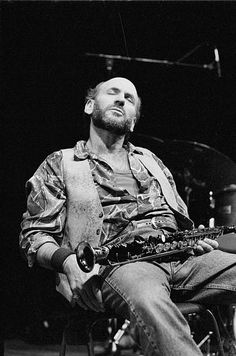David Liebman, soprano saxophone, performs on April 4th 1994 at the BIM huis in Amsterdam, the Netherlands.