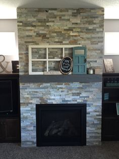 Rocking the fireplace!