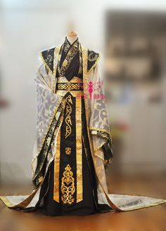 Cheap emperor costume, Buy Quality hanfu wedding directly from China chinese hanfu Suppliers: Zhong Dong Black and Red 2 colors Emperor's Costume Red Chinese Hanfu Wedding Costume for Male with Over Robe of Long Tail Traditional Fashion, Traditional Dresses, Mode Kimono, Fantasy Gowns, Chinese Clothing, Japanese Outfits, Character Outfits, Hanfu, Kimono Fashion